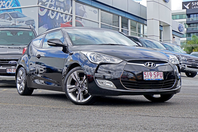 Used Hyundai Veloster FS Coupe D-CT, 2012 Hyundai Veloster FS Coupe D-CT Black 6 Speed Sports Automatic Dual Clutch Hatchback