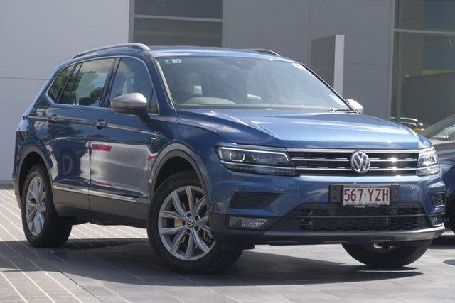 Demo Volkswagen Tiguan 5N MY19 132TSI Comfortline DSG 4MOTION Allspace, 2018 Volkswagen Tiguan 5N MY19 132TSI Comfortline DSG 4MOTION Allspace Blue Silk Metallic 7 Speed