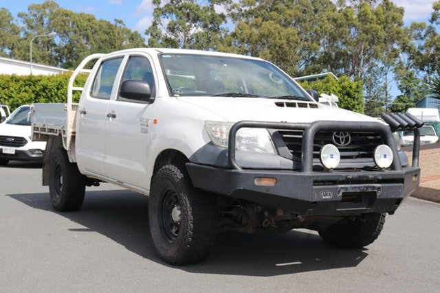 Used Toyota Hilux KUN26R MY12 Workmate Double Cab, 2012 Toyota Hilux KUN26R MY12 Workmate Double Cab White 5 speed Manual Utility