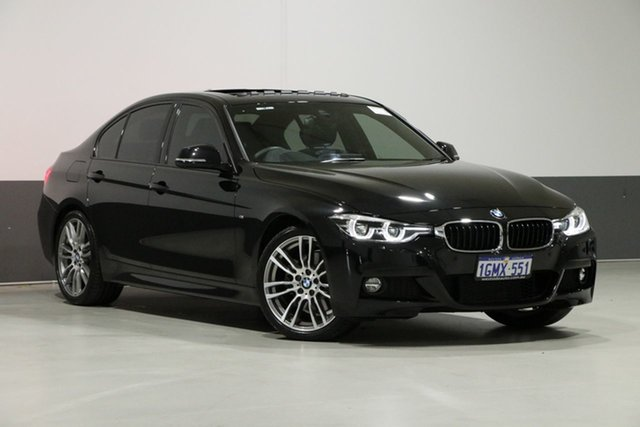Used BMW 330i F30 LCI M Sport, 2018 BMW 330i F30 LCI M Sport Sapphire Black 8 Speed Automatic Sedan