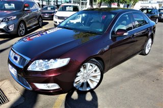 2009 Ford Falcon FG G6E Turbo Red 6 Speed Sports Automatic Sedan.