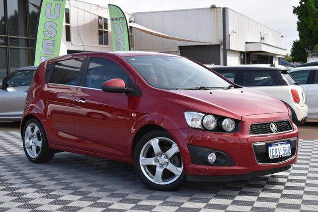 Used Holden Barina TM MY13 CDX, 2012 Holden Barina TM MY13 CDX Red/Black 6 Speed Automatic Hatchback