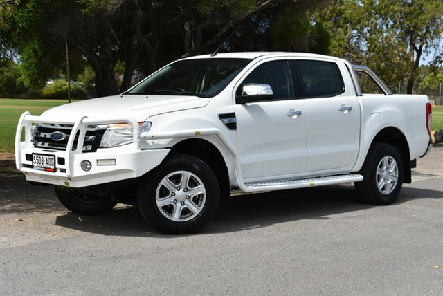 Used Ford Ranger PX XLT Double Cab, 2011 Ford Ranger PX XLT Double Cab White 6 Speed Sports Automatic Utility