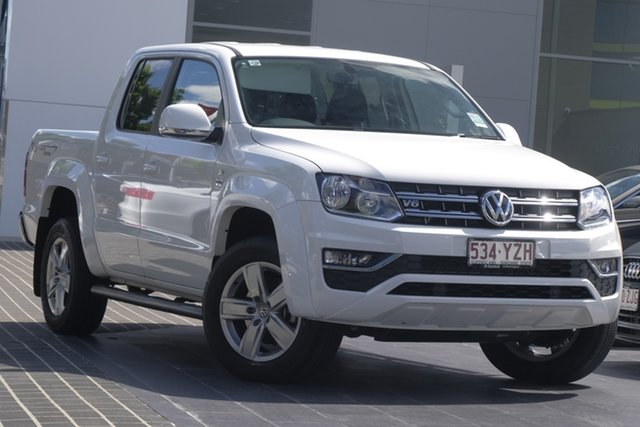 Demo Volkswagen Amarok 2H MY19 TDI550 4MOTION Perm Sportline, 2018 Volkswagen Amarok 2H MY19 TDI550 4MOTION Perm Sportline Candy White 8 Speed Automatic Utility