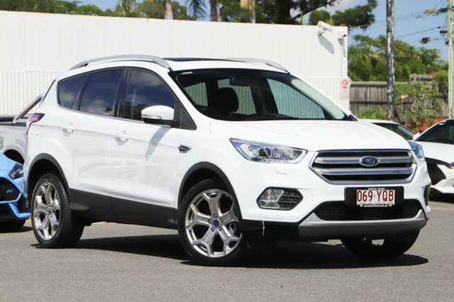 Used Ford Escape ZG 2018.00MY Titanium PwrShift AWD, 2018 Ford Escape ZG 2018.00MY Titanium PwrShift AWD White 6 Speed Sports Automatic Dual Clutch Wagon