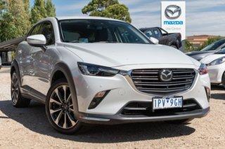 2019 Mazda CX-3 DK2W7A Akari SKYACTIV-Drive FWD White 6 Speed Sports Automatic Wagon.