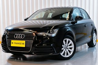 2015 Audi A1 8X MY14 Attraction Sportback S Tronic Black 7 Speed Sports Automatic Dual Clutch.