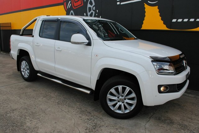 Used Volkswagen Amarok 2H MY16 TDI420 4Motion Perm Highline, 2016 Volkswagen Amarok 2H MY16 TDI420 4Motion Perm Highline Candy White 8 Speed Automatic Utility