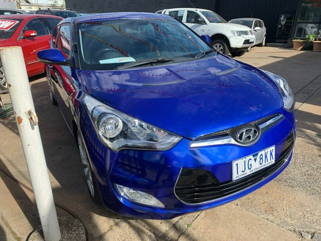 Used Hyundai Veloster FS2 + Coupe, 2012 Hyundai Veloster FS2 + Coupe Blue 6 Speed Manual Hatchback