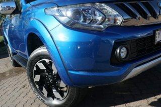 2016 Mitsubishi Triton MQ MY17 Exceed (4x4) Blue 5 Speed Automatic Dual Cab Utility.