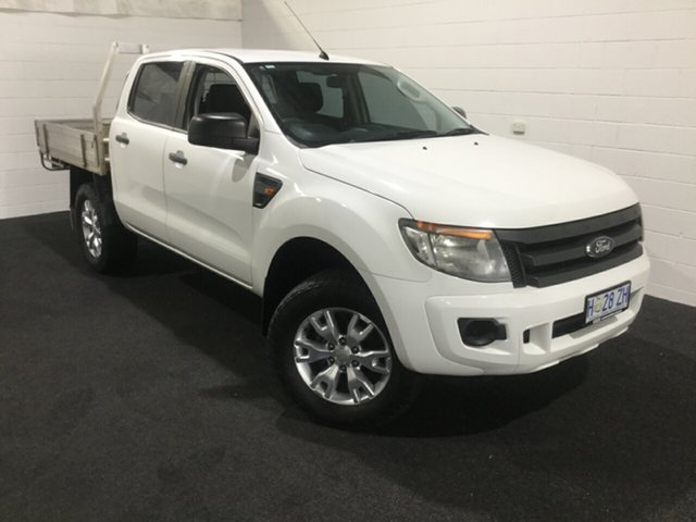 Used Ford Ranger PX XL Double Cab 4x2 Hi-Rider, 2014 Ford Ranger PX XL Double Cab 4x2 Hi-Rider White 6 Speed Sports Automatic Utility