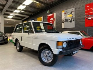 1979 Land Rover Range Rover White 4 Speed Manual Wagon.