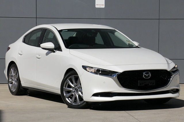 Demo Mazda 3 BP2S7A G20 SKYACTIV-Drive Touring, 2019 Mazda 3 BP2S7A G20 SKYACTIV-Drive Touring Snowflake White 6 Speed Sports Automatic Sedan