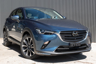 2019 Mazda CX-3 DK2W7A Akari SKYACTIV-Drive FWD Eternal Blue 6 Speed Sports Automatic Wagon.