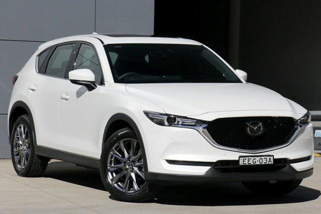 Demo Mazda CX-5 KF4WLA Akera SKYACTIV-Drive i-ACTIV AWD, 2019 Mazda CX-5 KF4WLA Akera SKYACTIV-Drive i-ACTIV AWD Snowflake White 6 Speed Sports Automatic