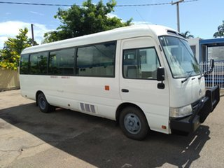 2012 Toyota Coaster XZB50R 07 Upgrade Standard (LWB) White Bus.