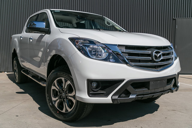 New Mazda BT-50 UR0YG1 XTR 4x2 Hi-Rider, 2019 Mazda BT-50 UR0YG1 XTR 4x2 Hi-Rider Cool White 6 Speed Sports Automatic Utility