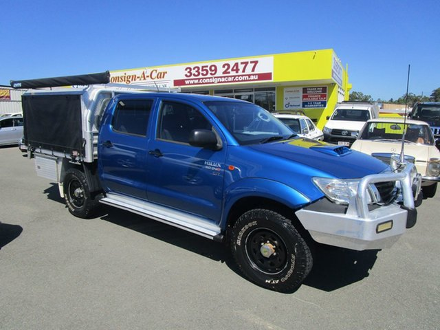 Used Toyota Hilux KUN26R MY12 SR Double Cab, 2013 Toyota Hilux KUN26R MY12 SR Double Cab Blue 5 Speed Manual Utility