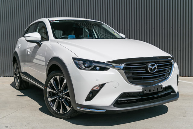 New Mazda CX-3 DK2W7A sTouring SKYACTIV-Drive FWD, 2020 Mazda CX-3 DK2W7A sTouring SKYACTIV-Drive FWD Snowflake White Pearl 6 Speed Sports Automatic