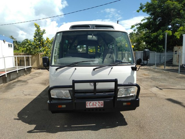 Used Toyota Coaster XZB50R 07 Upgrade Standard (LWB), 2012 Toyota Coaster XZB50R 07 Upgrade Standard (LWB) White Bus