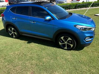 2015 Hyundai Tucson TLE Highlander D-CT AWD Blue 7 Speed Sports Automatic Dual Clutch Wagon.