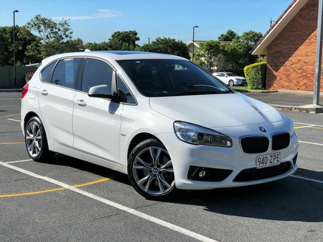 Used BMW 2 Series F45 225i Active Tourer Sport Line, 2015 BMW 2 Series F45 225i Active Tourer Sport Line White 8 Speed Sports Automatic Hatchback