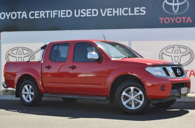 Used Nissan Navara D40 Series 4 ST-X (4x4), 2010 Nissan Navara D40 Series 4 ST-X (4x4) Red 6 Speed Manual Dual Cab Pick-up