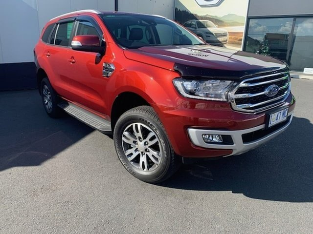 Used Ford Everest UA II 2019.75MY Trend 4WD, 2019 Ford Everest UA II 2019.75MY Trend 4WD Red 10 Speed Sports Automatic Wagon