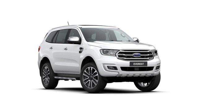Used Ford Everest UA II 2019.75MY Titanium 4WD, 2019 Ford Everest UA II 2019.75MY Titanium 4WD White 10 Speed Sports Automatic Wagon