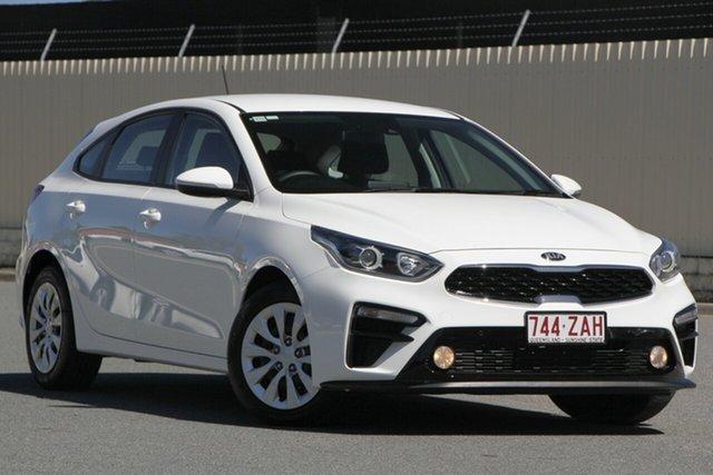 Used Kia Cerato BD MY19 S, 2019 Kia Cerato BD MY19 S Clear White 6 Speed Sports Automatic Hatchback