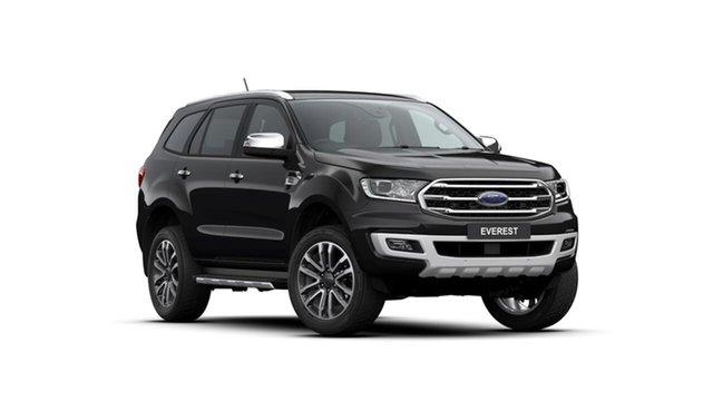Used Ford Everest UA II 2019.75MY Titanium 4WD, 2019 Ford Everest UA II 2019.75MY Titanium 4WD Black 10 Speed Sports Automatic Wagon