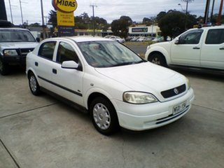 2003 Holden Astra TS MY03 City White 5 Speed Manual Hatchback.