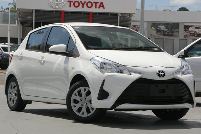 Used Toyota Yaris NCP130R Ascent, 2018 Toyota Yaris NCP130R Ascent Glacier White 4 Speed Automatic Hatchback