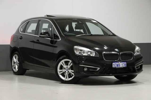 Used BMW 218i F45 Active Tourer Luxury Line, 2015 BMW 218i F45 Active Tourer Luxury Line Black 6 Speed Automatic Wagon