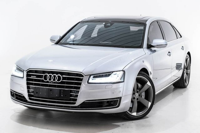 Used Audi A8 4H MY16 L LWB Tiptronic Quattro, 2016 Audi A8 4H MY16 L LWB Tiptronic Quattro Silver 8 Speed Sports Automatic Sedan