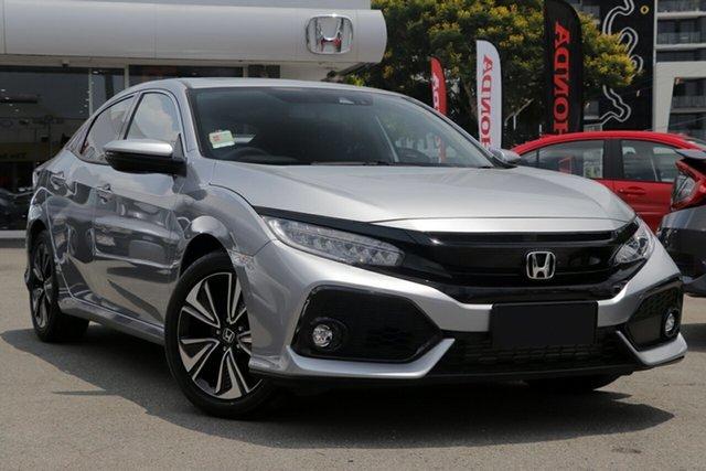 New Honda Civic 10th Gen MY19 VTi-LX, 2019 Honda Civic 10th Gen MY19 VTi-LX Lunar Silver 1 Speed Constant Variable Hatchback