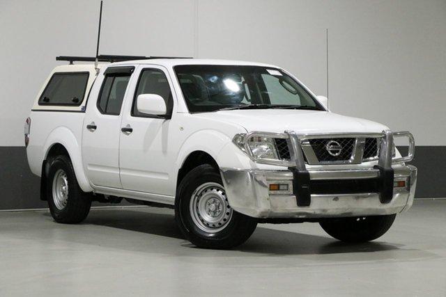 Used Nissan Navara D40 MY13 RX (4x2), 2013 Nissan Navara D40 MY13 RX (4x2) White 6 Speed Manual Dual Cab Pick-up