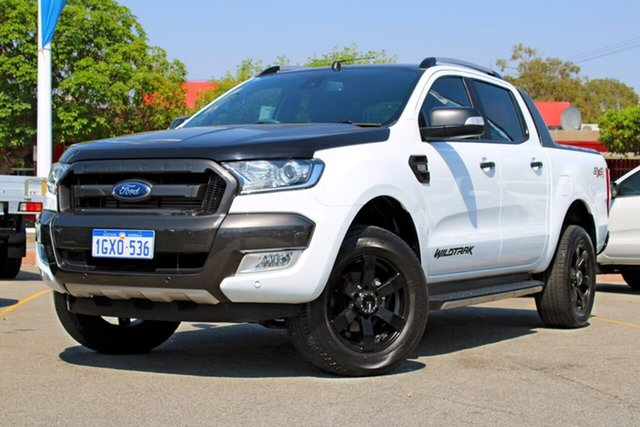 Used Ford Ranger PX MkII 2018.00MY Wildtrak Double Cab, 2017 Ford Ranger PX MkII 2018.00MY Wildtrak Double Cab White 6 Speed Sports Automatic Utility