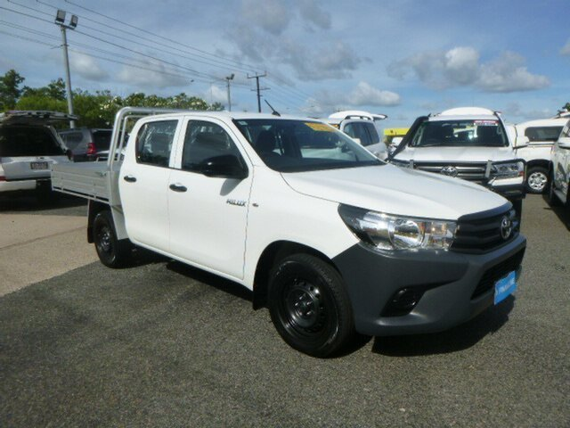 Used Toyota Hilux GUN122R Workmate Double Cab 4x2, 2015 Toyota Hilux GUN122R Workmate Double Cab 4x2 White 5 Speed Manual Utility