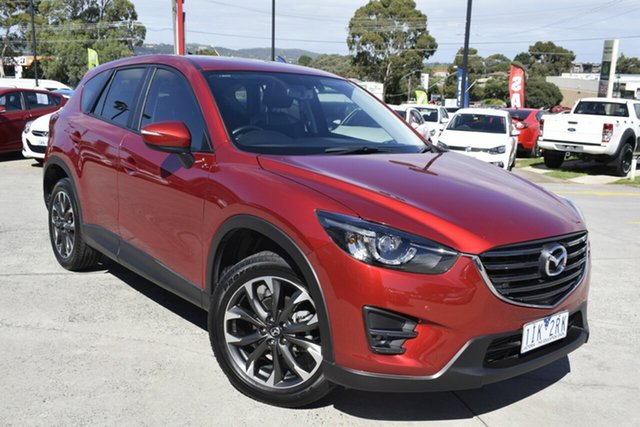 Used Mazda CX-5 KE1022 Grand Touring SKYACTIV-Drive AWD, 2016 Mazda CX-5 KE1022 Grand Touring SKYACTIV-Drive AWD Red 6 Speed Sports Automatic Wagon