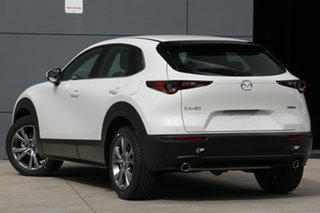 2020 Mazda CX-30 DM2WLA G25 SKYACTIV-Drive Astina Snowflake White 6 Speed Sports Automatic Wagon.