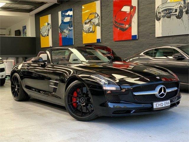 Used Mercedes-Benz SLS-Class R197 , 2014 Mercedes-Benz SLS-Class R197 SLS AMG Black Sports Automatic Dual Clutch Roadster