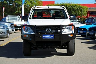 2015 Mazda BT-50 UP0YF1 XT White 6 Speed Manual Cab Chassis.