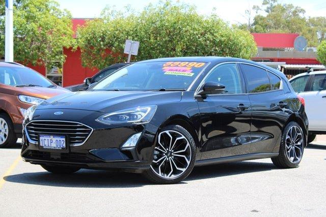 Used Ford Focus SA 2019.25MY Titanium, 2018 Ford Focus SA 2019.25MY Titanium Black 8 Speed Automatic Hatchback