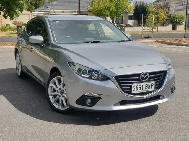 Used Mazda 3 BM5438 SP25 SKYACTIV-Drive, 2015 Mazda 3 BM5438 SP25 SKYACTIV-Drive Silver 6 Speed Sports Automatic Hatchback