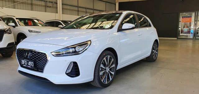 Demo Hyundai i30 PD2 MY20 Premium, 2020 Hyundai i30 PD2 MY20 Premium Polar White 6 Speed Sports Automatic Hatchback