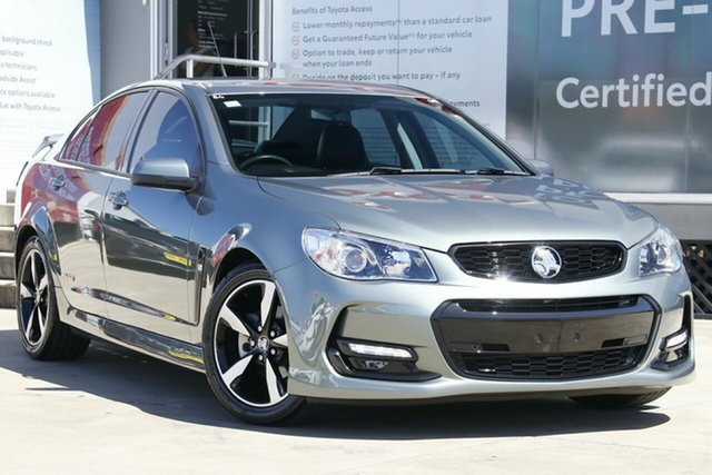 Used Holden Commodore Vfii MY16 SV6 Black Edition, 2016 Holden Commodore Vfii MY16 SV6 Black Edition Grey 6 Speed Automatic Sedan