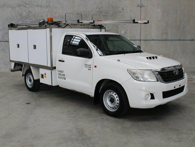 Used Toyota Hilux KUN16R MY12 SR 4x2, 2013 Toyota Hilux KUN16R MY12 SR 4x2 White 5 speed Manual Cab Chassis