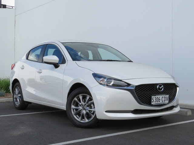 Demo Mazda 2 DL2SAA G15 SKYACTIV-Drive Pure, 2019 Mazda 2 DL2SAA G15 SKYACTIV-Drive Pure Snowflake White 6 Speed Sports Automatic Sedan