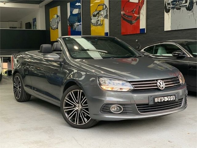 Used Volkswagen EOS 1F 155TSI, 2011 Volkswagen EOS 1F 155TSI Grey Sports Automatic Dual Clutch Convertible